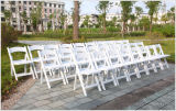Outdoor Weddingsのための黒いPadded Resin Folding Chair