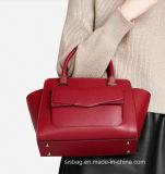 デザイナー赤いカラー女性のためのステッチのハンド・バッグ