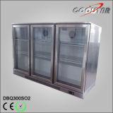 Refrigerador del almacenaje de la botella de la puerta de oscilación del acero tres de Stainleess con el regulador del termóstato (DBQ-300SO2)