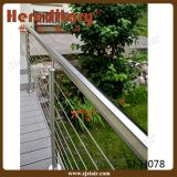 Roestvrij staal Wire Staircase Railing voor Trede Handrail (sj-H077)