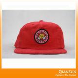 ロゴのスナップの帽子が付いている急な回復のフラットキャップ
