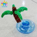 Finego schwimmt aufblasbares Palme Belüftung-aufblasbares Pool-Getränk-Cup Halter