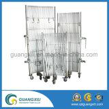 Barrière extensible de degré de sécurité provisoire mobile en aluminium de frontière de sécurité