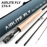 7FT6 Supler heller Bandspule-Sitzkoreanische Kohlenstoff-Fliege Angelrute
