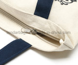 L'acquisto 100% della tela di canapa del cotone della chiusura lampo trasporta il sacchetto