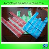 Plastikträger-Abfall-Beutel mit buntem Streifen