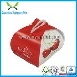 Nette Papiertortenschachtel mit Griff mit Firmenzeichen-Drucken