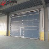 Подгонянная высокоскоростная алюминиевая промышленная вертикальная сползая надземная нутряная дверь гаража