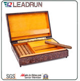 Zigarre-Zigaretten-hölzerner Geschenk-Kasten-Andenken-Kasten mit EVA-Blasen-Schaumgummi-Einlage (YL21)