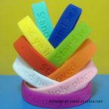 Wristbands del silicone di Debossed, braccialetti messi