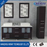 Governo fisso di vanità della stanza da bagno del doppio dispersore di legno solido