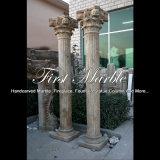De antieke Kolom van de Travertijn voor Decoratie mcol-313 van het Huis
