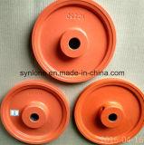 Piezas de la rueda de la polea del bastidor del hierro con trabajar a máquina