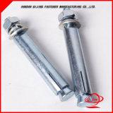 Boulon d'anchrage à haute résistance de Hilti de boulon d'anchrage de chemise d'acier inoxydable avec la rondelle à ressort