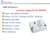 24V 40W LED 운전사, 24V LED 전력 공급, 40W LED 의 일정한 전압 24V 의 40W 플라스틱 전력 공급