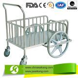 Chariot de transport à acier inoxydable pour rectifier la distribution (CE/FDA/ISO)