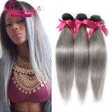El pelo de Remy del color de Ombre de la alta calidad teje el pelo humano recto peruano
