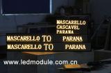 P6 het semi-Openlucht LEIDENE Bewegende Teken van het Bericht voor Bus/Taxi/Auto