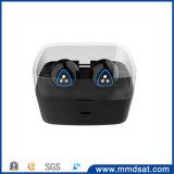 El receptor de cabeza sin hilos de Bluetooth del último del estilo D900s mini gancho de leva dual del oído
