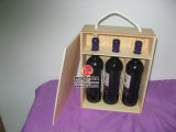 Bottiglia Wine Wooden Box con Burned Logo