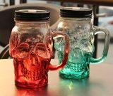 飲むマグの頭骨のガラスビンの頭骨のガラス容器