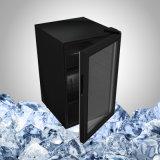 Черный малый холодильник для витрины