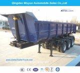 3 반 차축 45cbm U 모양 덤프 트럭 트레일러 또는 팁 주는 사람 트럭 세미트레일러