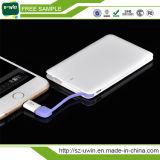 Banco portátil 2600mAh da potência do cartão de crédito mini
