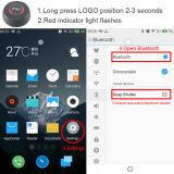 De verre Stok van Bluetooth Selfie van het Aluminium van het Blind Mini met Smartphone