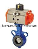 Клапан-бабочка пневматического привода (WCB/PTFE/SS304)