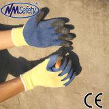 De Vinger van Nmsafety en de Palm Ondergedompelde Handschoen van de Veiligheid van het Latex