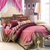 AutumnおよびWinterのための韓国のTwill Princess Bed Cotton Comforter Set