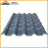 A telha de telhado lustrosa da onda grande com o Asa que reveste a telha da resina sintética