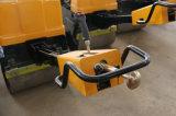 Double tonne manuelle du compacteur 0.8 de rouleau de vibration de tambour (JMS08H)
