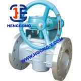 Válvula do bujão do óleo do forro da flange PTFE do aço de carbono de ANSI/DIN/JIS