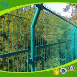 上塗を施してある溶接された鉄条網電流を通されたPVC防御フェンス