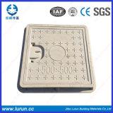 Incêndio - tampa de câmara de visita 400X400 plástica resistente En124 de FRP D400