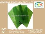 2-12mm Fの緑の深緑色のフロートガラス