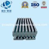 Peça da peça de maquinaria da mineração da peça da placa da maxila/triturador de maxila/máquina