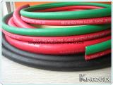 Manguito gemelo de goma 20bar del gas de la soldadura del oxígeno y del acetileno de Red+Green/Blue