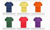 Gewebe der Baumwollschwarzes unbelegtes Shirt-100%Cotton