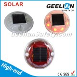LED Flashing Road Marker / forma redonda Solar carretera Stud