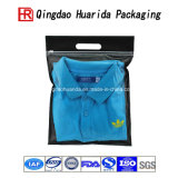 Sacos de empacotamento do Ziplock plástico desobstruído/sacos de empacotamento camisa plástica desobstruída/saco de empacotamento feito sob encomenda da roupa