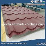 Hoja excelente del material para techos del metal del efecto del azulejo para la promoción