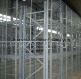 溶接された金網の区分の塀