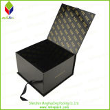 Kundenspezifische schwarze Bowtie verpackengeschenk-Kästen mit Farbband-Schliessen