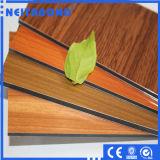 Painel composto de alumínio ACP, painel composto de alumínio da grão de madeira