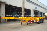 3 Radachsen 40FT Skeletonal Container Semi Trailer bei Competitive Prices