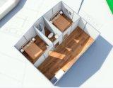 La casa del panel de emparedado de una sola planta del Brasil prefabricó