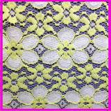 Tela química del cordón del ganchillo de la materia textil del cordón de Printting